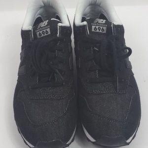 New Balance 696 Shoes Size 9 Black Denim